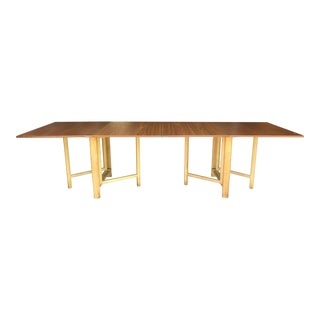 Labeled Bruno Mathsson 1967 Maria Teak Folding Dining Table