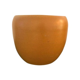 20th Century Organic Modern Orange Glazed Studio Pottery Vessel