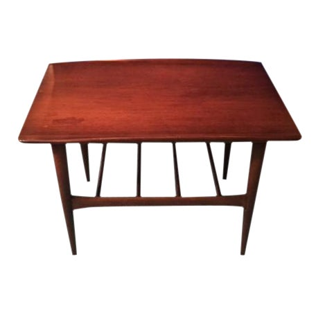 Lane Mid Century Modern Walnut Coffee Table - Image 1 of 10