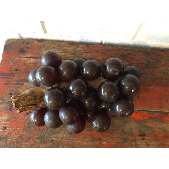 Boho Chic Vintage Brown Resin Grape Cluster For Sale - Image 3 of 10