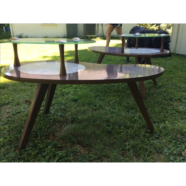 Mid-Century Formica & Glass End Table - Image 6 of 7