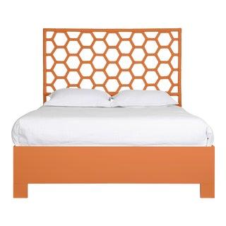 Honeycomb Bed Queen - Orange For Sale
