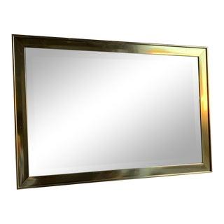 Heavy Brass Framed Mirror For Sale