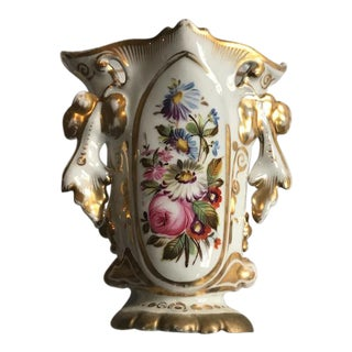 Antique Paris Porcelain Botanical Vase