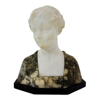Late 19th Century Antique French Marble Bust For Sale