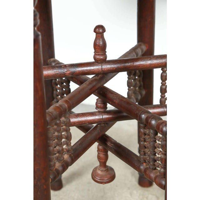 Persian Mameluke Tray Table on Wooden Folding Stand For Sale In Los Angeles - Image 6 of 8
