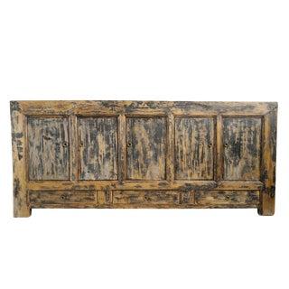 Rustic Mongolian Sideboard For Sale