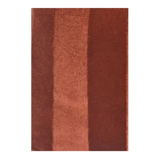 Cinnabar Striped Mohair Velvet Swatch For Sale