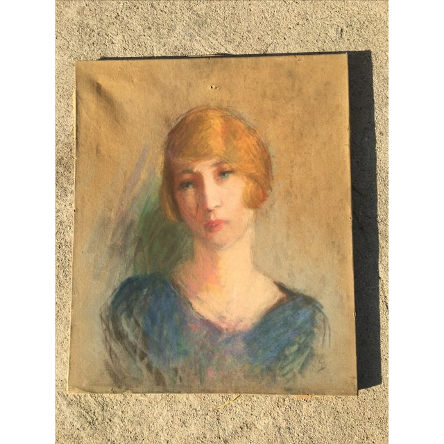 Vintage French Oil Painting Portrait - Image 2 of 10