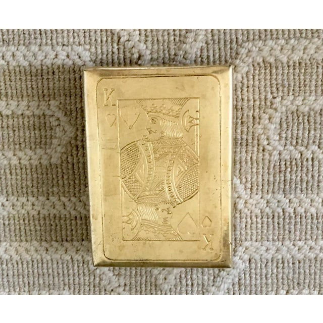 Vintage Brass Playing Card Case For Sale In Dallas - Image 6 of 7