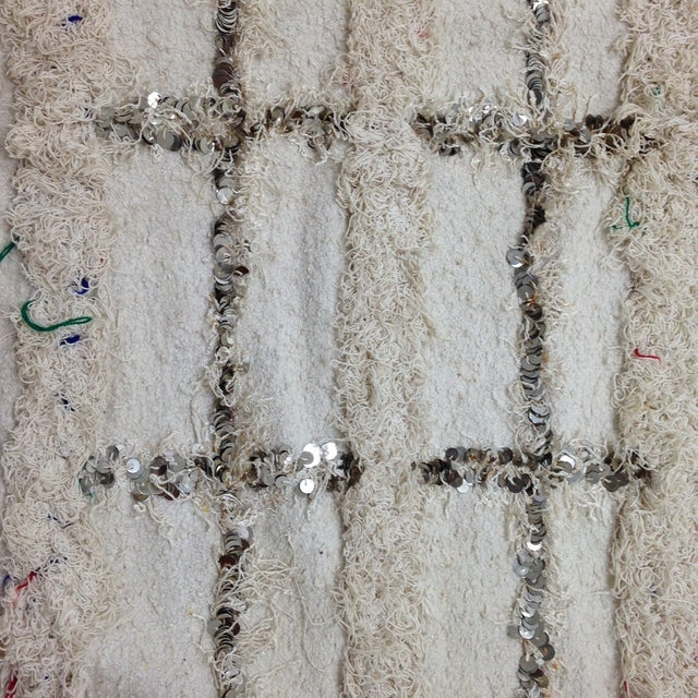 Moroccan Sequin Handira Wedding Blanket - Image 4 of 4