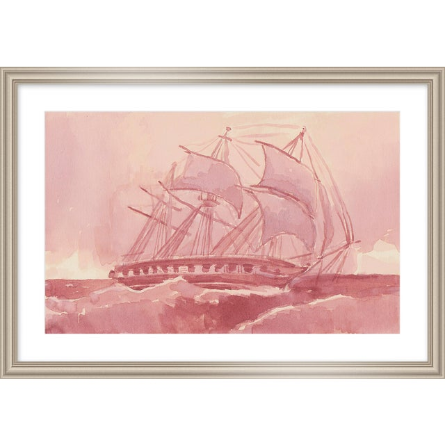 "Contemporary Medium ""Hms Challenger"" Print by Michelle Farro, 32"" X 22"" For Sale - Image 3 of 3"