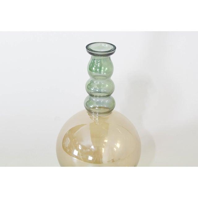 1980s Vintage Decorative Glass Vase For Sale - Image 5 of 7