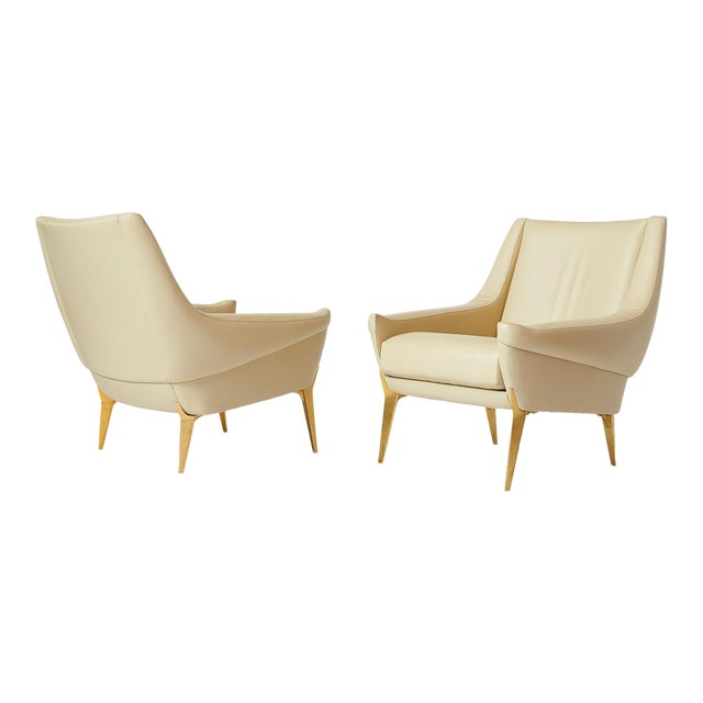 Pair of Lounge Chairs by Charles Ramos For Sale