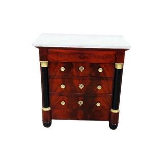 Early 20th Century French Empire Style Marble Top Dresser For Sale