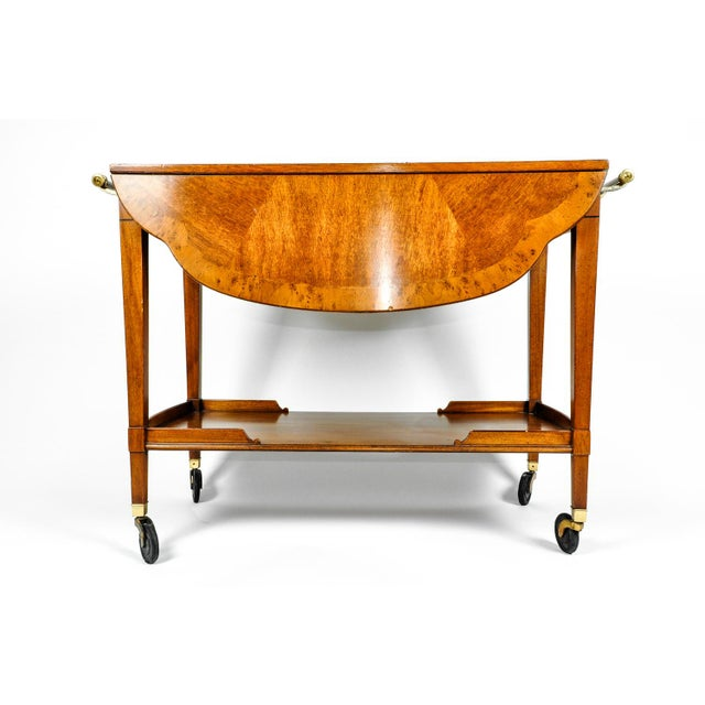Mid-20th Century Satinwood Mahogany Bar Cart or Tea Trolly For Sale - Image 12 of 13