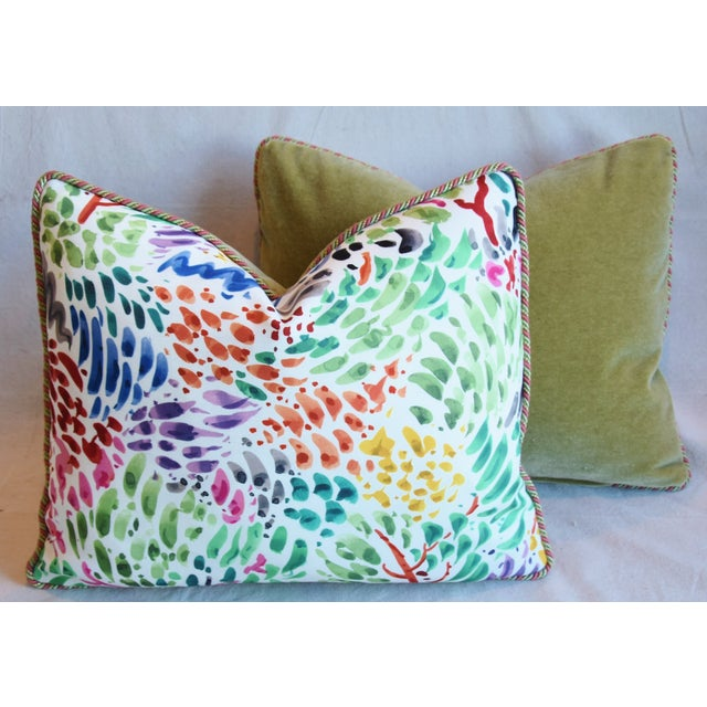 """Clarence House Fabric and Scalamandre Mohair Feather/Down Pillows 23"""" X 19"""" - Pair For Sale - Image 11 of 13"""