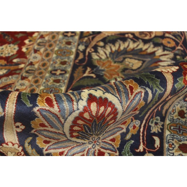 """1990s Heritage Sixta Red & Blue Wool Rug - 12'1"""" x 17'5"""" For Sale - Image 5 of 7"""