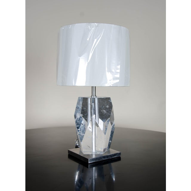 2010s Crystal Faceted Lamp For Sale - Image 5 of 5