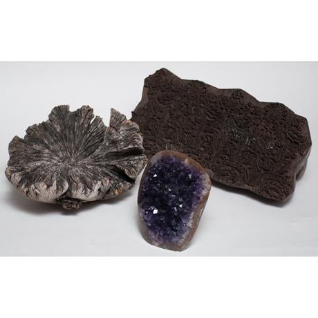 Amethyst Crystal & Wood Pieces - Set of 3 - Image 5 of 11
