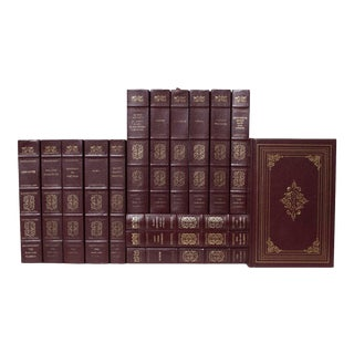 Leather Harvard Classics Book Set - Set of 15 For Sale