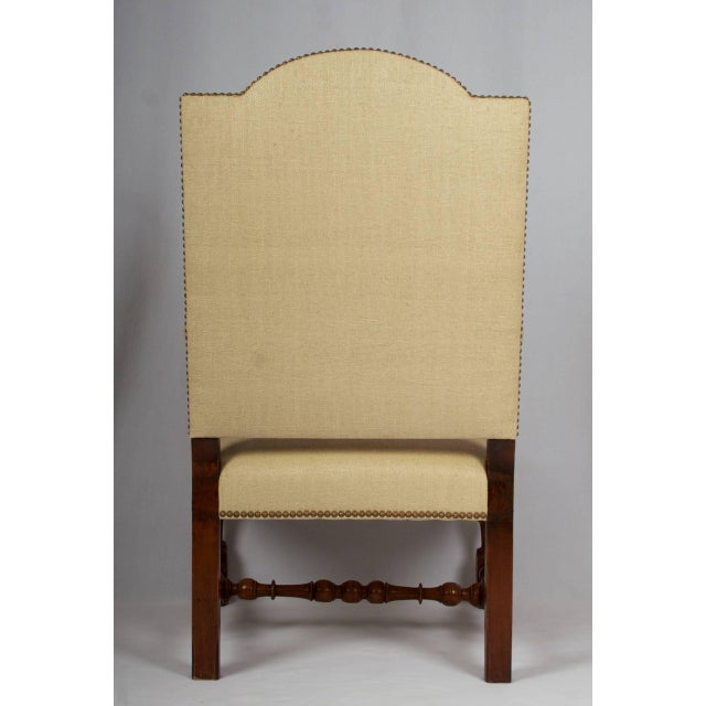 Louis XIII 17th Century Louis XIII Armchair, Restored and Newly Upholstered For Sale - Image 3 of 11