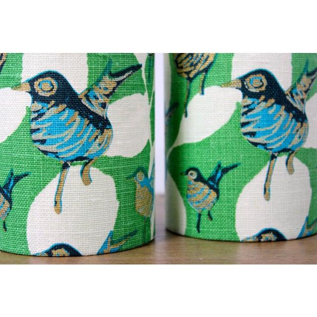Patchwork Bird Lampshade green
