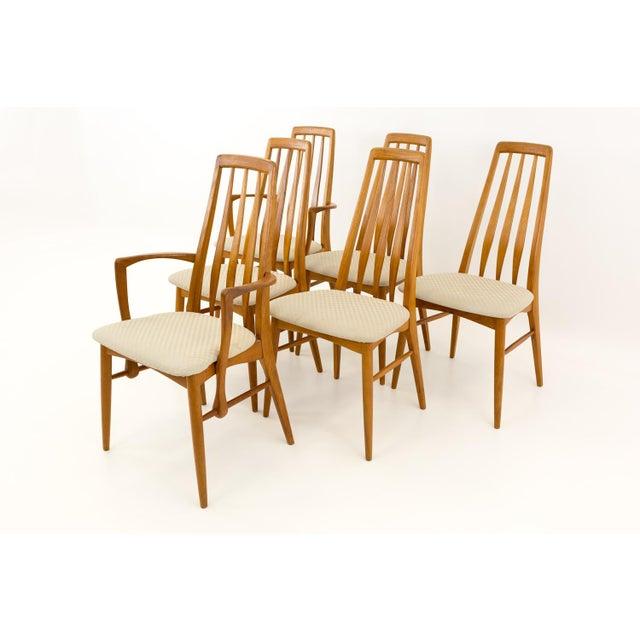 Danish Modern Vintage Mid Century Niels Koefoed Hornslet Danish Teak Eva Dining Chairs - Set of 6 For Sale - Image 3 of 13