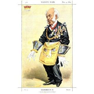 """1869 """"Earl of Zetland"""" Vanity Fair Portrait Lithograph Print For Sale"""