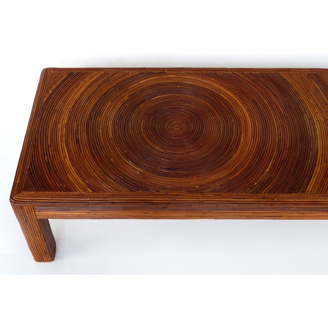 Mid-Century Modern Pencil Reed Mid-Century Modern Coffee Table in the Style of Gabriella Crespi For Sale - Image 3 of 11