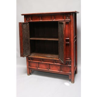 Elm Wood Red Crackle Cabinet Preview