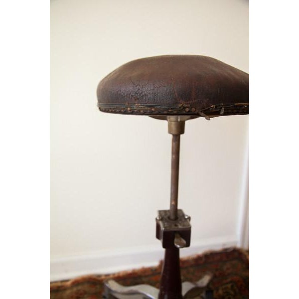 Brown 1920s Antique Medical Stool For Sale - Image 8 of 9
