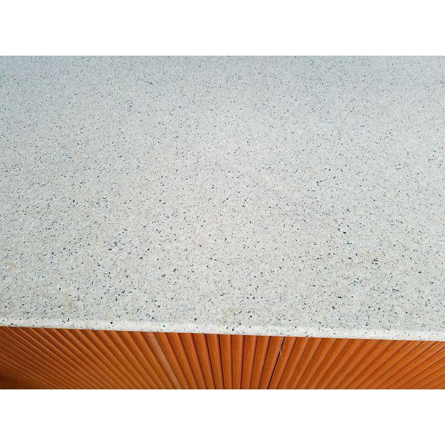 Karl Springer Style Granite Top Credenza - Image 5 of 5