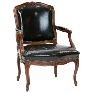 19th Century Vintage Louis XV Cabriolet Armchair For Sale