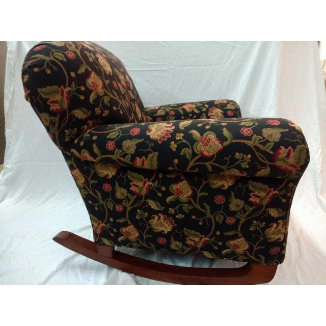 Nice example of 1930s era overstuff rocker. Very comfy chair! Completely rebuilt and reupholstered about 15 years ago in a...