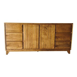 Mid-Century Maple Server by Conant Ball Apartment Size For Sale