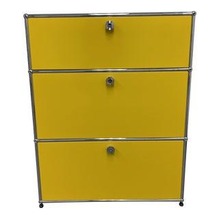 Usm Fritz Haller Yellow Filing Cabinet For Sale