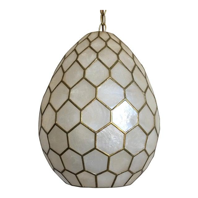 Honeycomb capiz shell pendant light chairish honeycomb capiz shell pendant light aloadofball Gallery