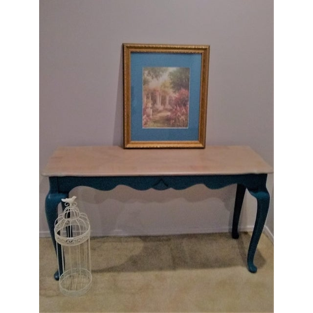 French Country Victorian Style Console or Sofa Table For Sale - Image 3 of 6