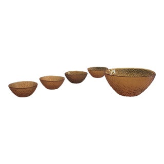 Mid-Century Salad Bowl Set - Five Pieces For Sale