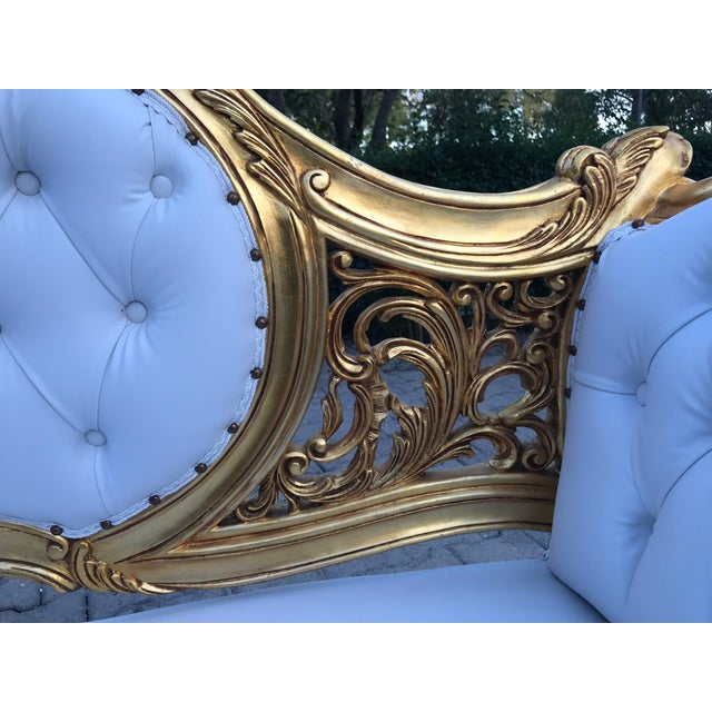 French Louis XVI Style Settee For Sale - Image 4 of 12