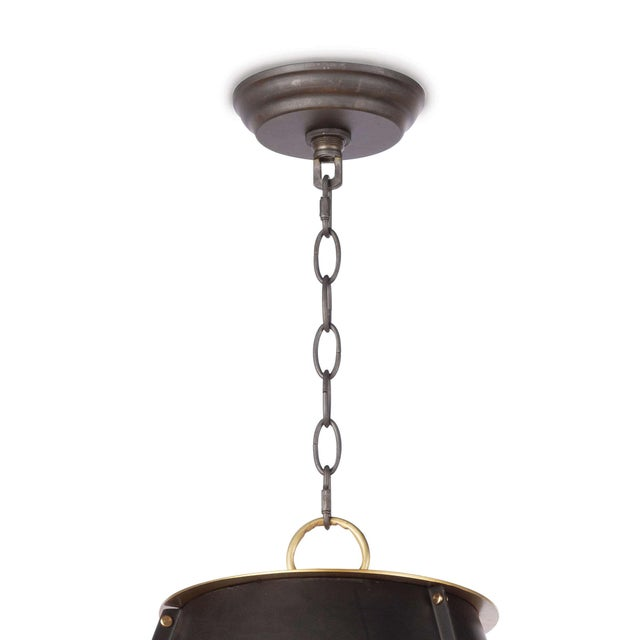 French Maid Chandelier Large in Black For Sale In Detroit - Image 6 of 8