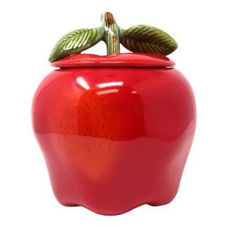 Vintage Ceramic Apple Jar
