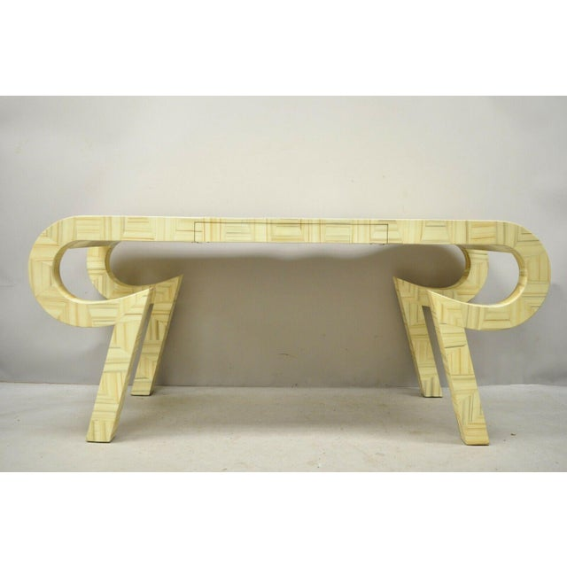 Allesandro Baker Karl Springer Style Cream Console Table For Sale - Image 12 of 13