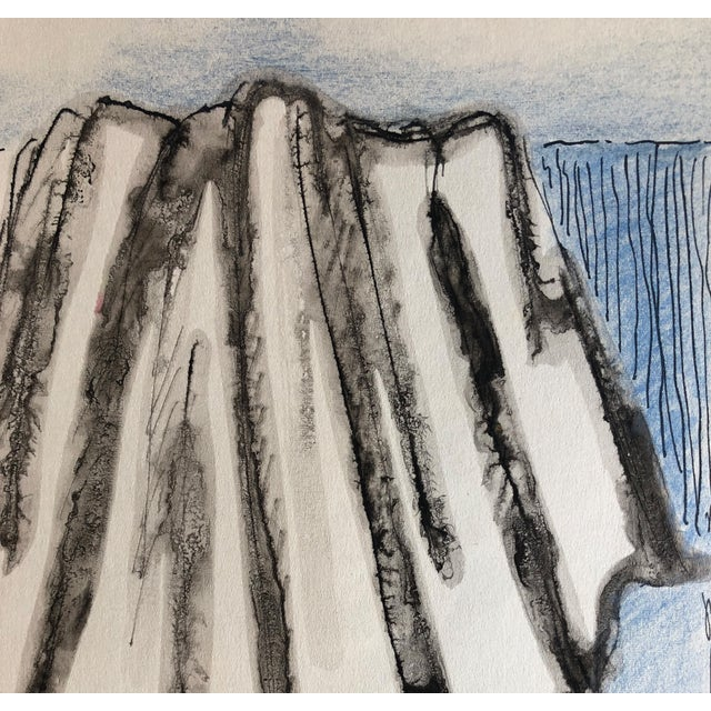 Realism 1956 Imagined Drapery Watercolor Study by James Bone For Sale - Image 3 of 4