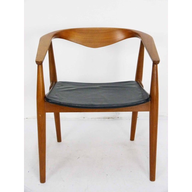 Danish Modern Teak Barrel Arm Chair - Image 2 of 10