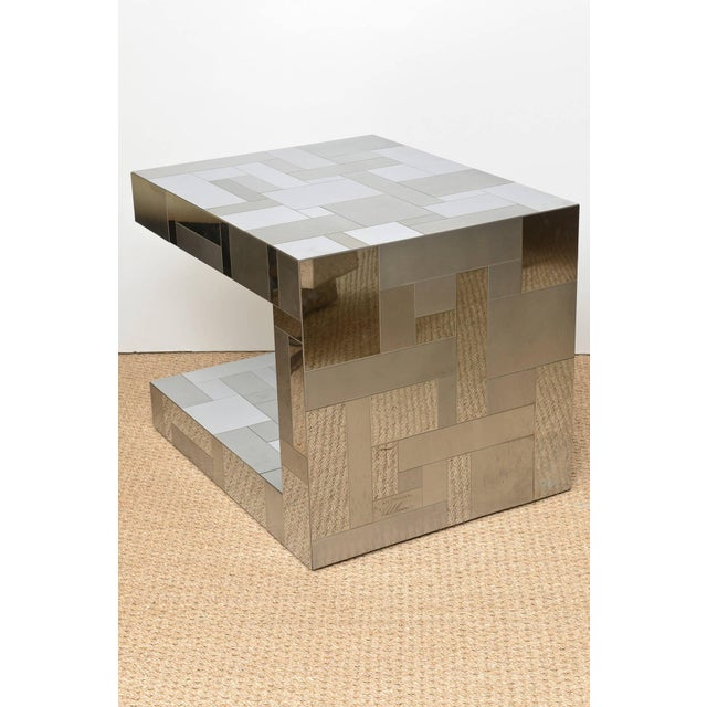 1970s Signed Paul Evans Cityscape Side or End Sculptural Table For Sale - Image 5 of 10