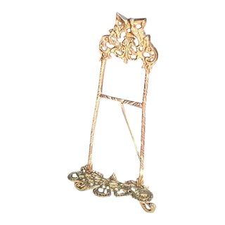 Brass Hummingbird Standing Easel For Sale