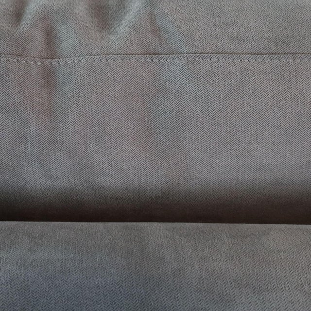 Textile Crate & Barrel Gray Upholstered Sectional Sofa For Sale - Image 7 of 9