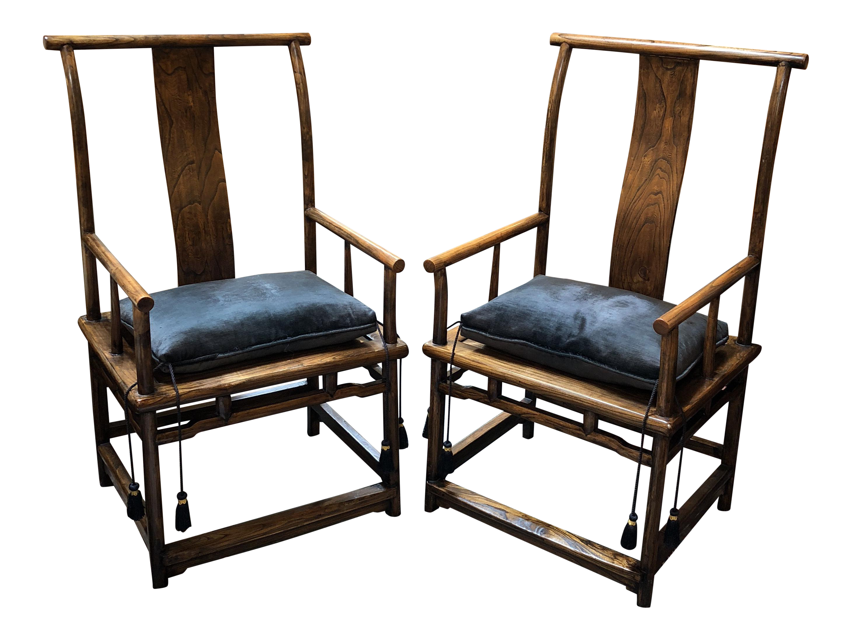 Vintage Chinese Yoke Back Chairs - a Pair  sc 1 st  Chairish & Vintage Chinese Yoke Back Chairs - a Pair | Chairish